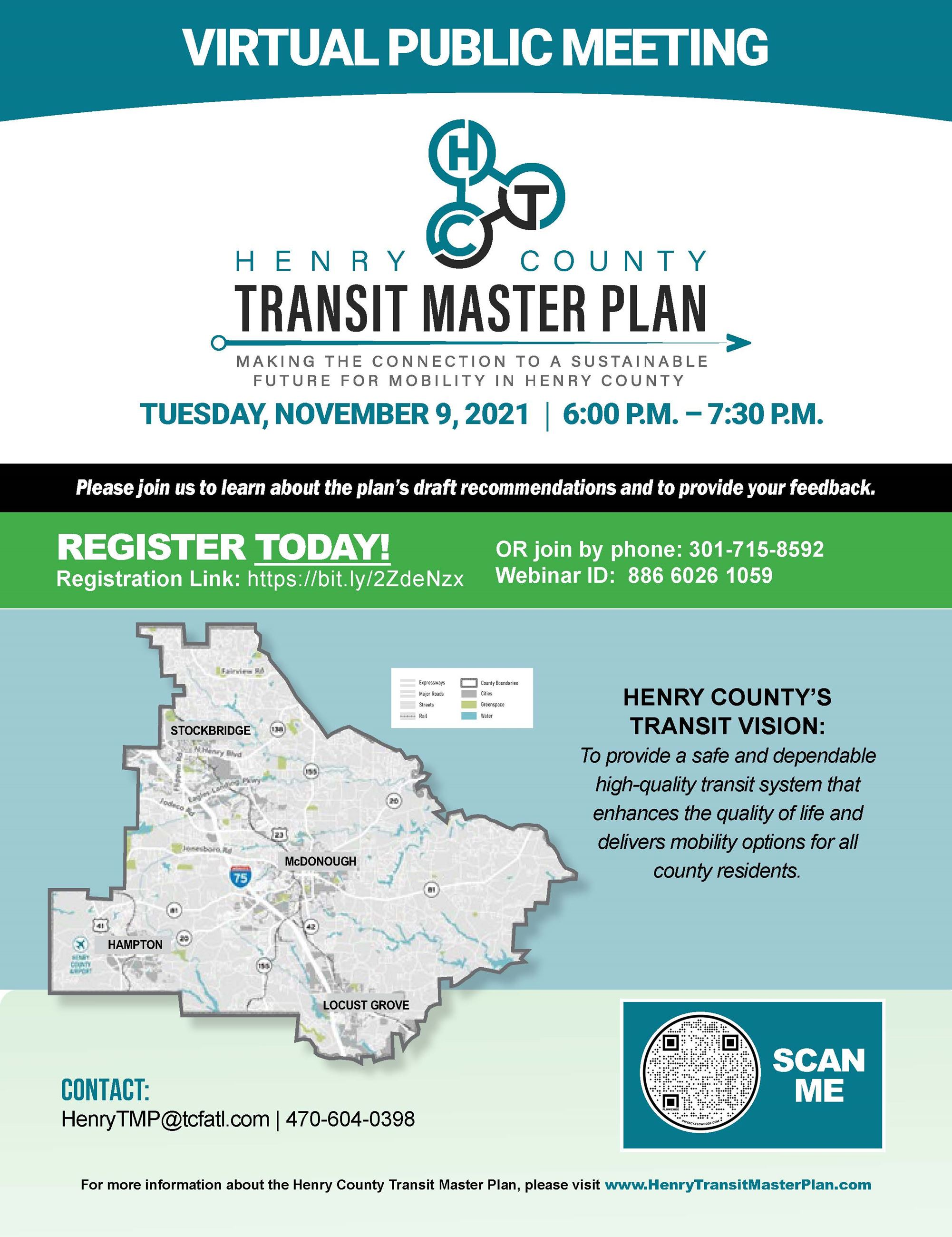 Henry County Transit Master Plan Flyer JPG for SOCIAL